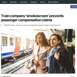 Train company 'smokescreen' prevents passenger compensation claims