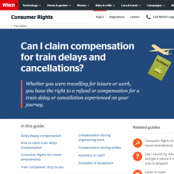 Can I claim compensation for train delays and cancellations?